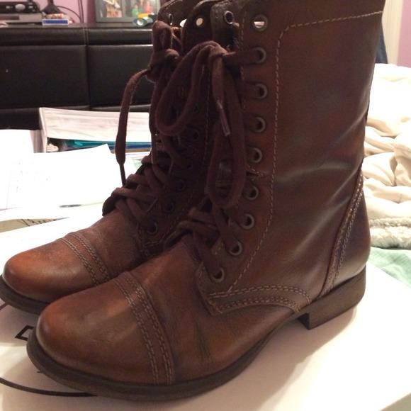 50% off Steve Madden Boots - Steve Madden brown combat boots from ...