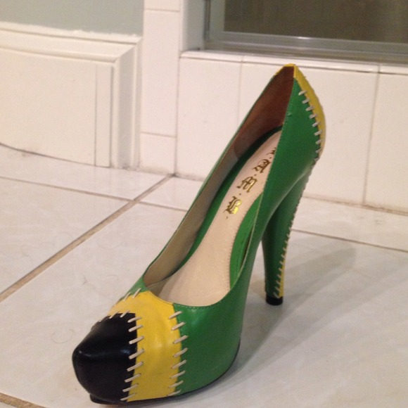 cc6aa18cb2b4 Neon Yellow Heels Target Photos. Green black and yellow pumps