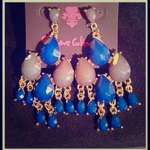 URBAN OUTFITTERS Blue StoneChandelier Earrings