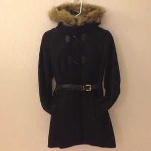 Ambiance Apparel Jackets & Blazers - Black Fur Coat