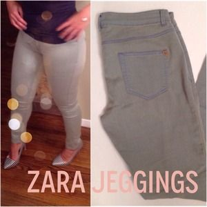 Zara Pants - Zara Jeggins in Smoke wash