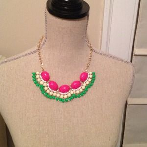 Bundled bauble crystal gem necklace gold chain