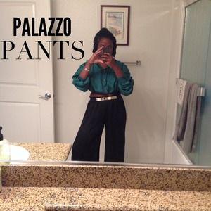 Black Palazzo Pants (wide leg)
