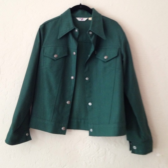 50% off Levi's Jackets & Blazers - Levi's forest green denim ...