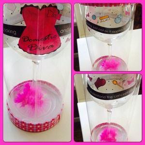 Domestic Diva wine glass