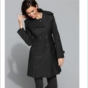 Petite Black Trench Coat - Coat Nj