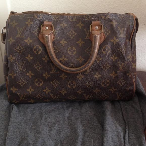 81% off Louis Vuitton Handbags - Vintage Louis Vuitton Speedy ...