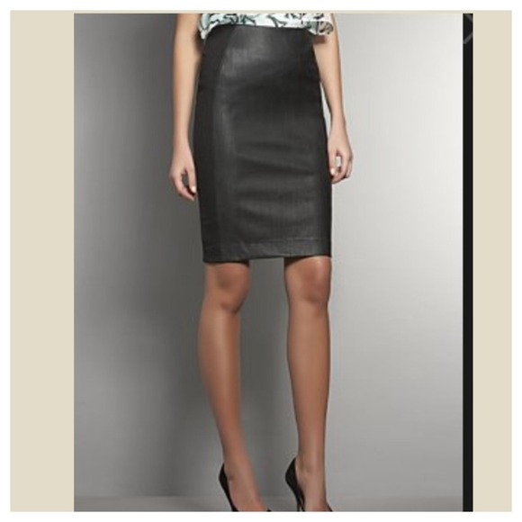 51% off Dresses & Skirts - Chic black faux leather pencil skirt ...