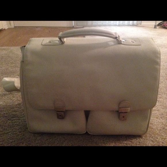 Lancaster Handbags - Authentic Briefcase white leather from Paris new a66be09f7405f