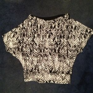 Express Tops - Express cute dark print top
