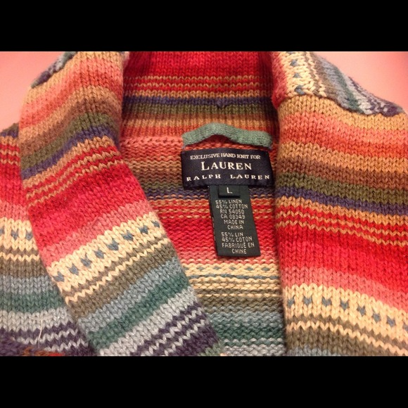Ralph Lauren Sweaters Tribal Aztec Wrap Sweater Size L