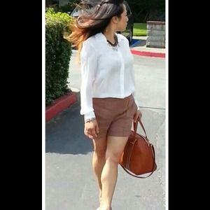 Zara Playsuit Silk Blouse Linen Short size Medium