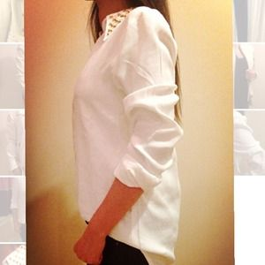 Host Pick Zara White Button Down Shirt XS