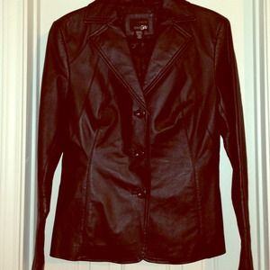 Gorgeous Genuine Leather Blazer