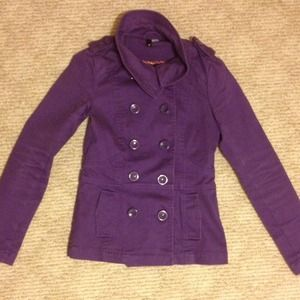H&M purple jacket