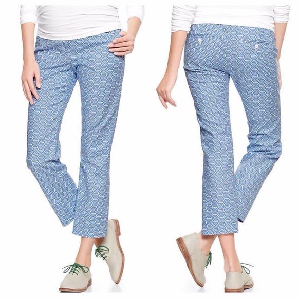 7291494296990 GAP Pants | Maternity Geometric Print Cropped | Poshmark