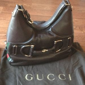 GUCCI heritage hobo with horsebit/web detail
