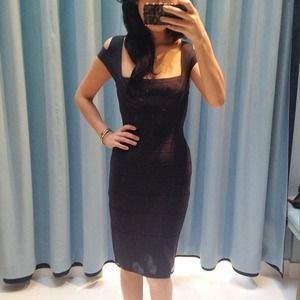 Herve Leger limited edition midnight navy dress XS