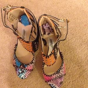 Jimmy choo multicolored leather shoe. Size 39