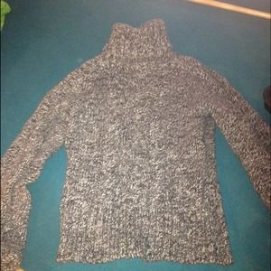 Express size S turtle neck gray sweater exc cond
