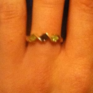 Jewelry - 10k gold ring!purple&green diamonds size 7