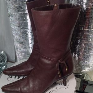Nine West Boots - VERY SOFY Rich Chocolate Color BOOTIES!
