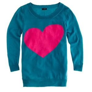 Jcrew tippi turquoise and pink sweater
