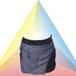 Wrap asymmetrical mini skirt
