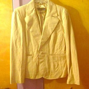 Soft Leather Blazer Jacket