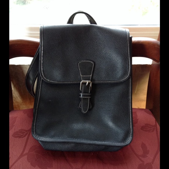 GAP - SALE! Black leather GAP backpack/purse! from Amy's closet on ...