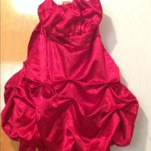 Silk red dress