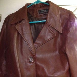 Steve Madden  Jackets & Coats - Steve Madden chocolate brown leather jacket