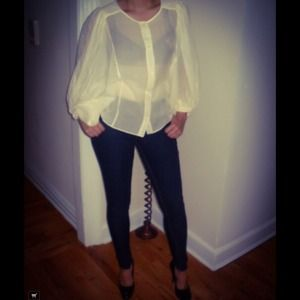 Erin Fetherston see through white neck blouse