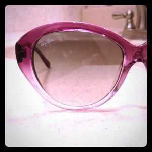 100% REAL purple ombré  Ray-Ban cat eye sunglasses