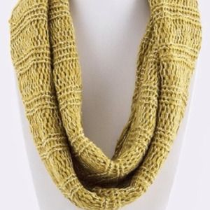 Accessories - Knitted Infinity Scarf/Mustard. Price Firm