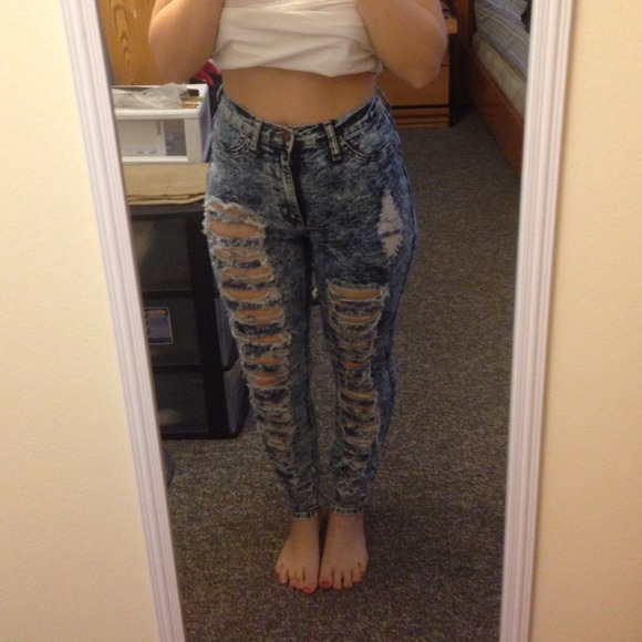 30% off Pants - Bundle✂️REDUCED✂️destroyed high waisted jeans ...