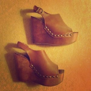 Jeffrey Campbell Woodies Wedge