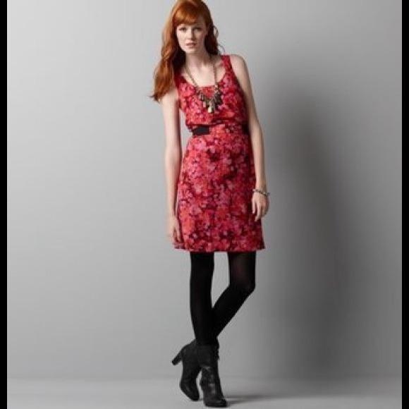 67 Off Loft Dresses Amp Skirts Ann Taylor Loft Red Floral