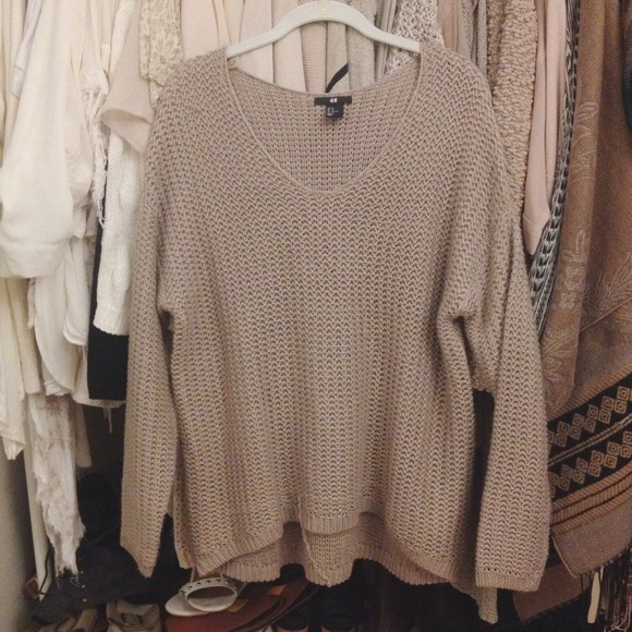 H&M - ❌📦 SOLD -- H&M Oversized Knit Sweater Taupe M from Calee's ...