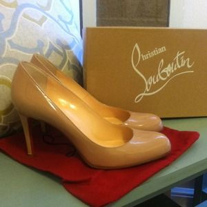 Christian Louboutin Shoes - ⬇ Christian Louboutin Simple Pump 85 Patent Beige
