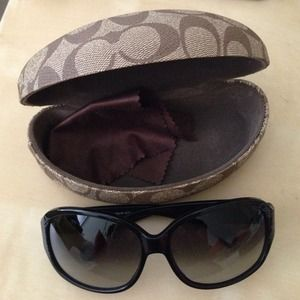 Coach Accessories - Coach sunglasses with case and cleaning cloth