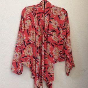 Winter Kate Tops - Winter Kate Floral Silk Kimono