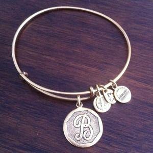 "Alex and Ani letter ""B"" bracelet"