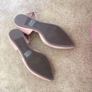 Shoes - BNWB Blush Ankle Strap Flats