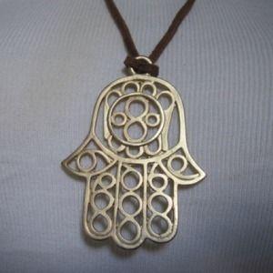34 v2crystals jewelry hamsa gold vermeil necklace