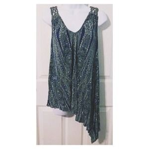 LOOKING FOR Free People Asymmetrical Print Tunic