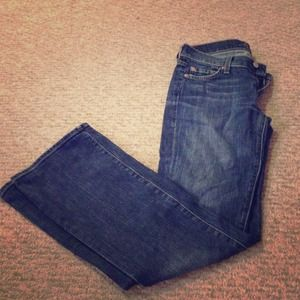 7 For all Mankind bootcut jeans, size 25.