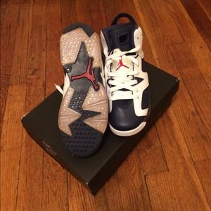 01b596ed9cd029 Air Jordan Shoes - Air Jordan Olympic 6s Retro (GS)