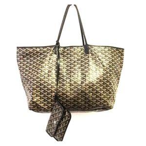 Goyard Handbags - Goyard Chevron St. Louis GM Black Bag.