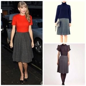 Final Touch Skirts - Grey Pleated Skirt